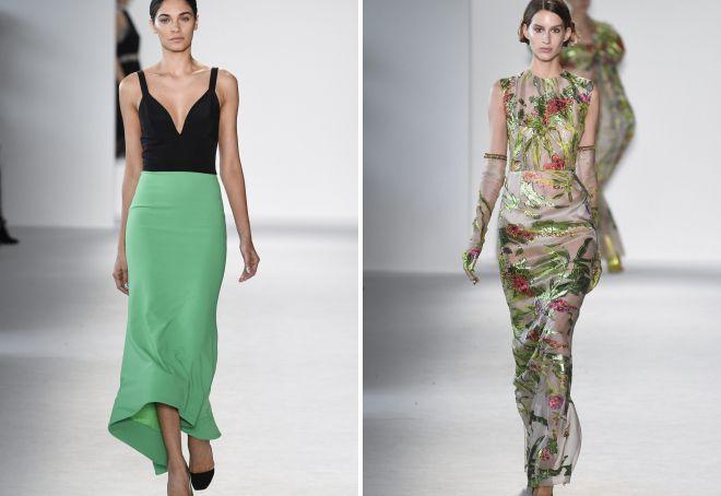 модные фасоны вечерних платьев 2018