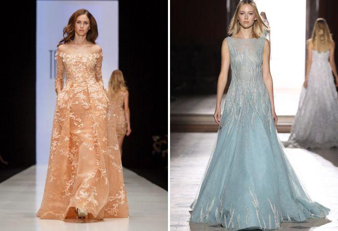 оригинальные фасоны вечерних платьев