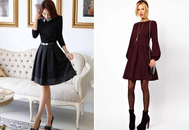 пышные платья до колена