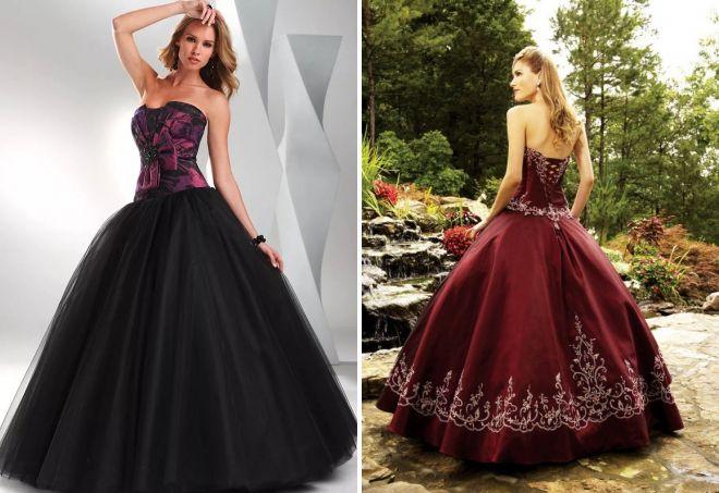пышное платье с корсетом