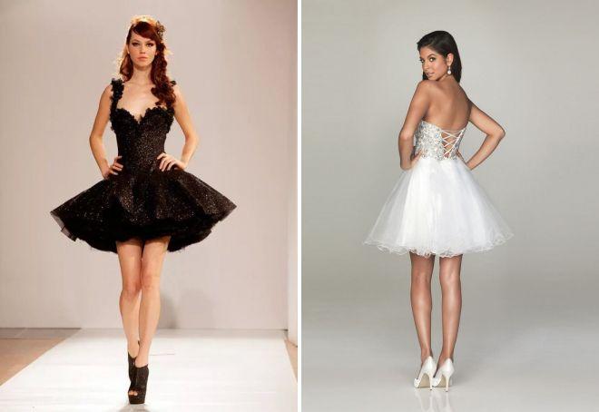 платье с корметом и пышной юбкой