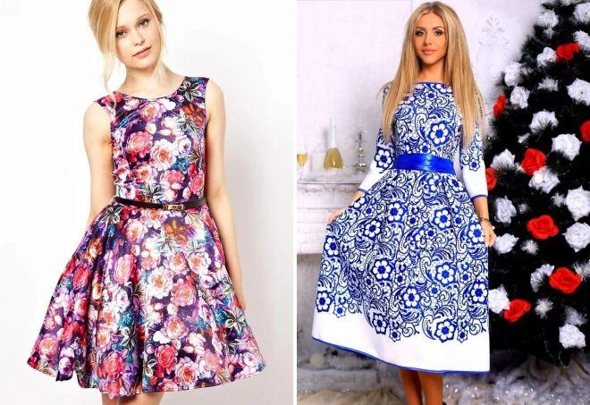 модные пышные платья