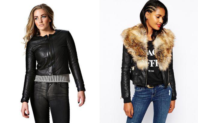 короткие кожаные куртки 2018