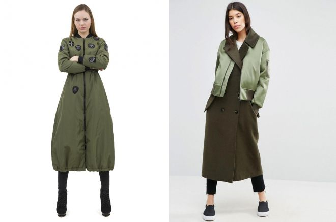 женское пальто бомбер