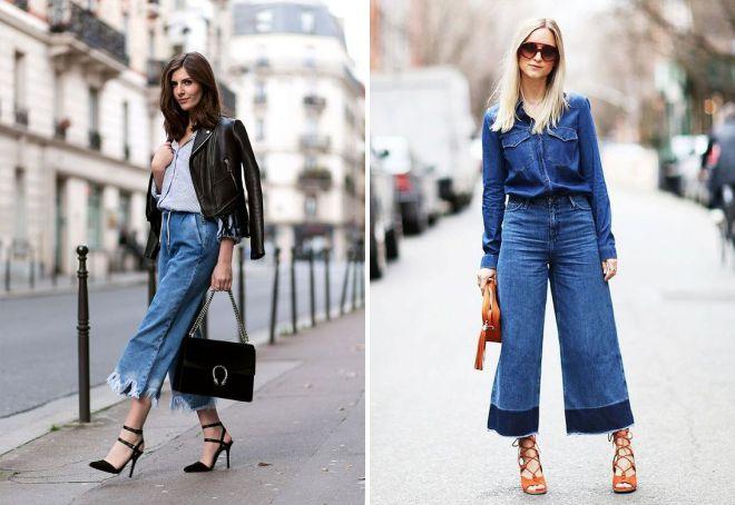 джинсовые кюлоты