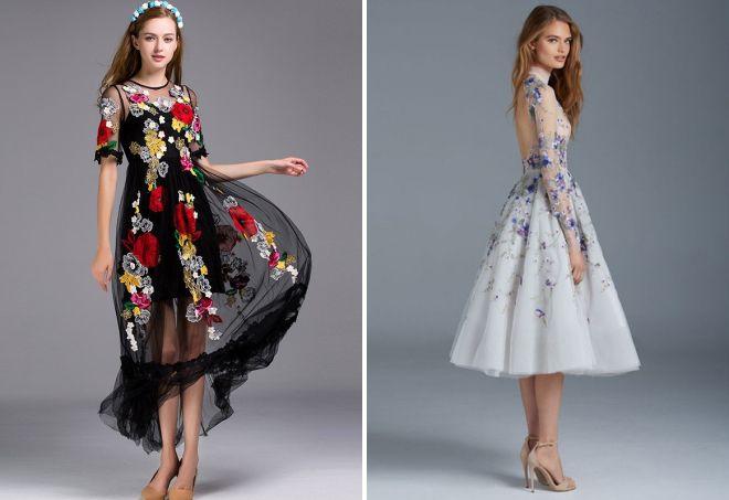 платье из прозрачной ткани
