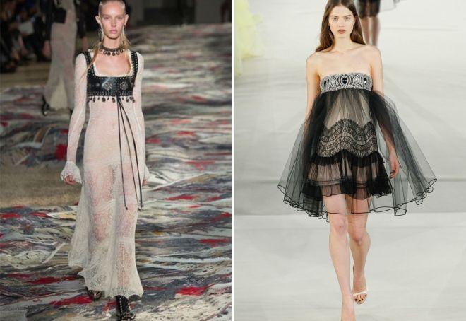 красивые прозрачные платья