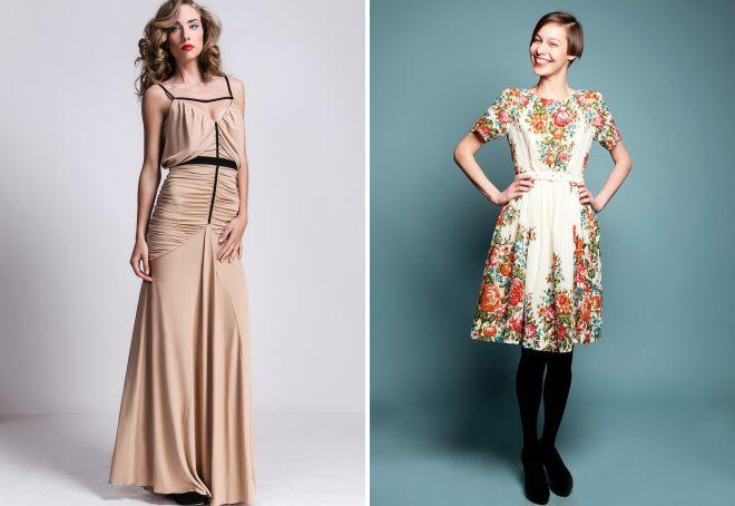 стильные винтажные платья
