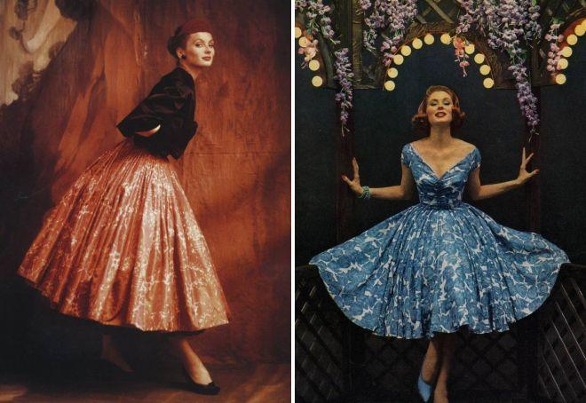 винтажные платья 50 х годов