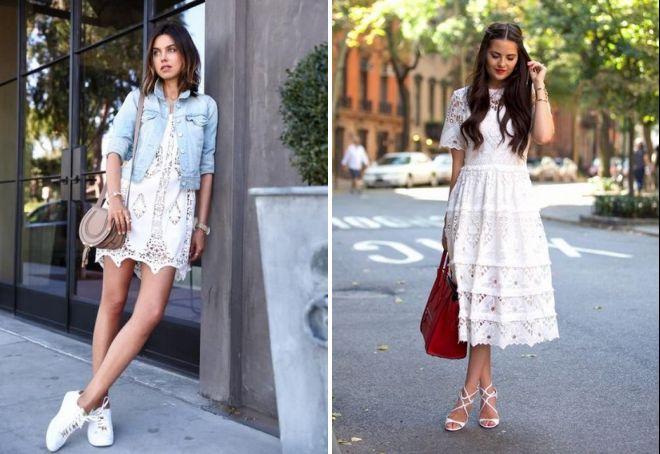 с чем носить летнее вязаное платье