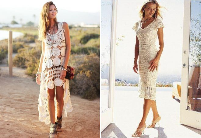 аксессуары к летнему вязаному платью