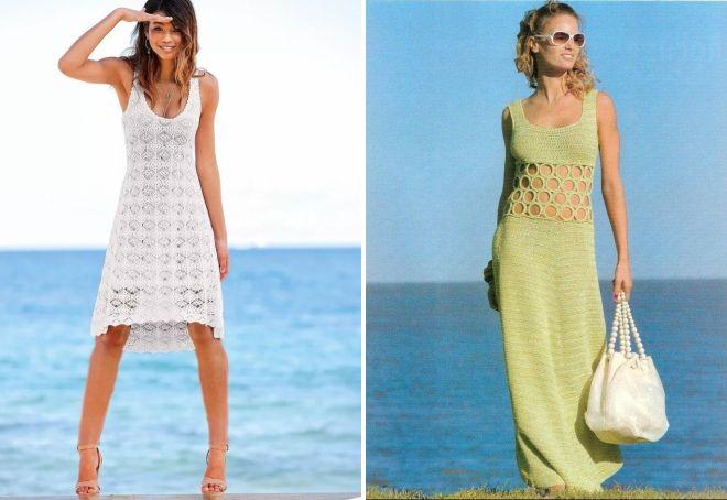 модные летние вязаные платья 2017