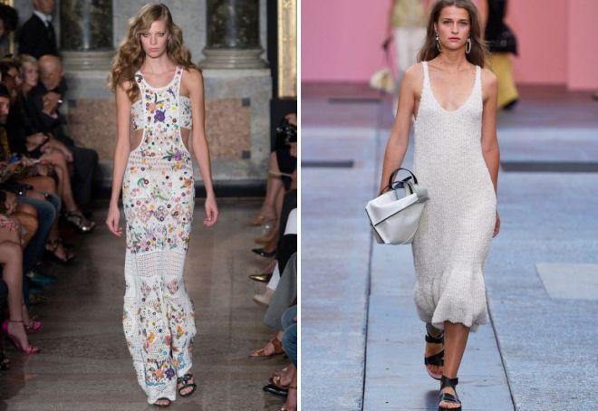 модные летние вязаные платья