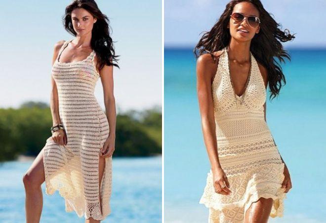 вязаные платья на лето