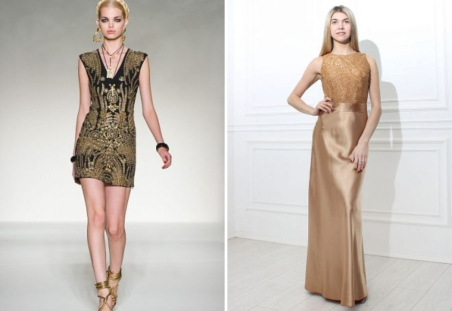 вечернее платье с золотой вышивкой