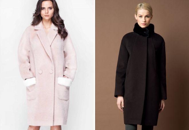 abrigo capullo con piel