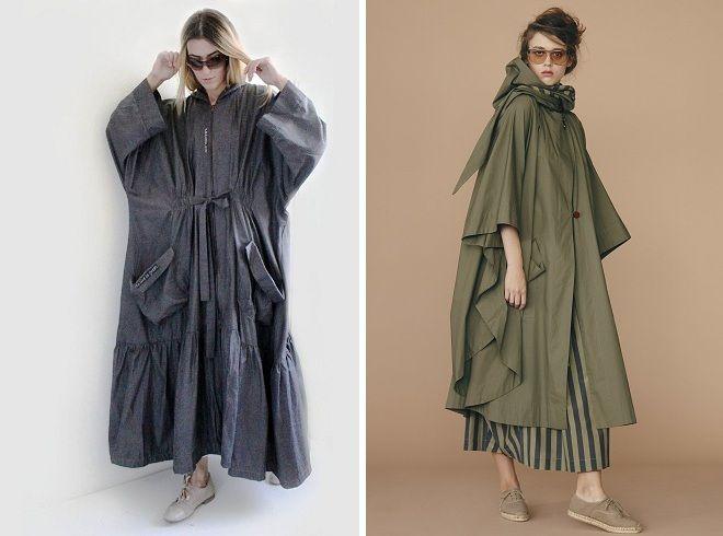 пальто плащ в стиле бохо