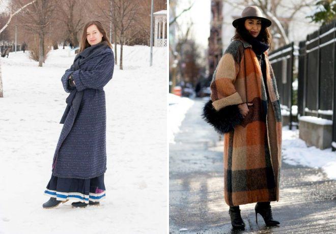 зимние пальто в стиле бохо