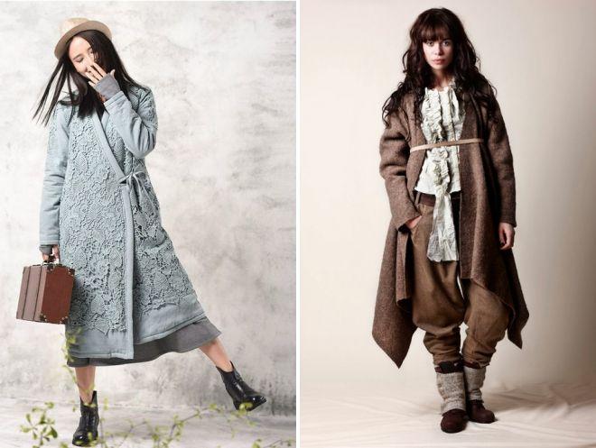 модное пальто в стиле бохо