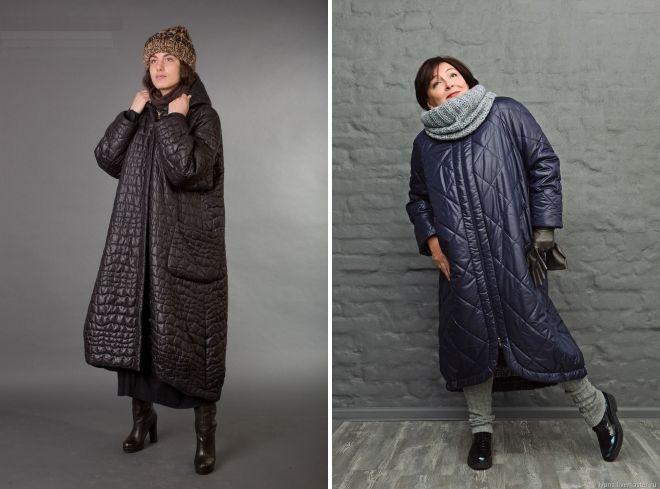 стеганое пальто бохо