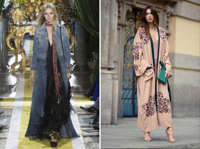 удлиненное пальто в стиле бохо