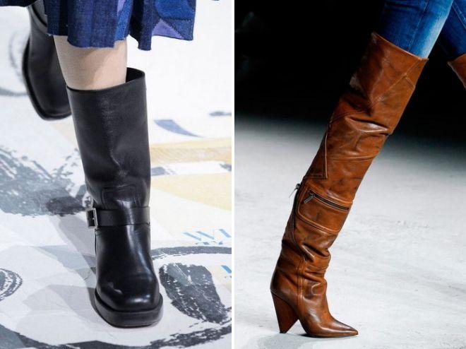 женские зимние сапоги 2018 2019 тренды
