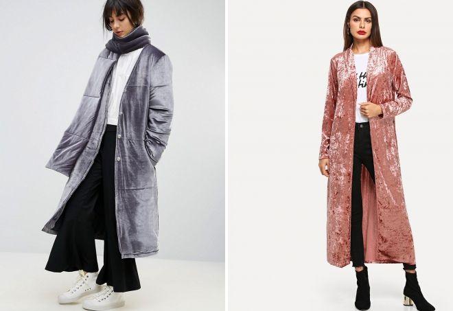 зимнее женское длинное пальто