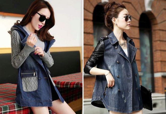 джинсовое пальто из кусков