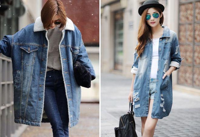 джинсовая куртка пальто