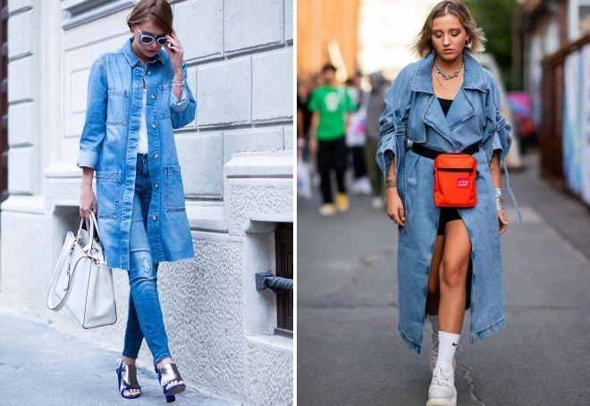 модные джинсовые пальто