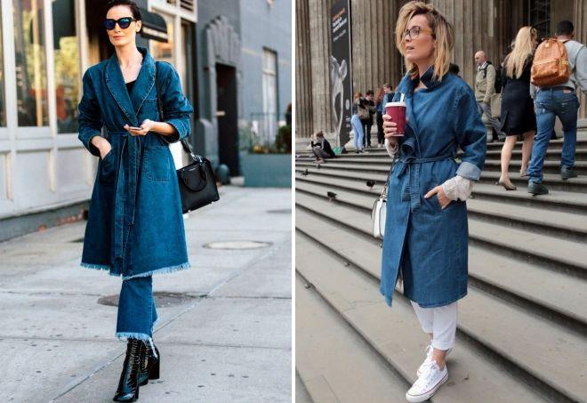 джинсовое пальто образы