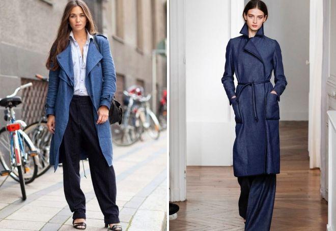 пальто из джинсовой ткани