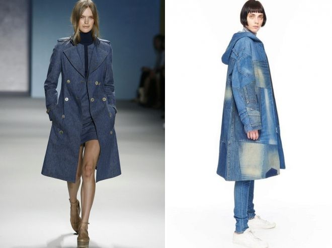модные джинсовые пальто 2019