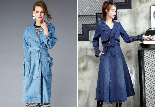 демисезонное джинсовое пальто