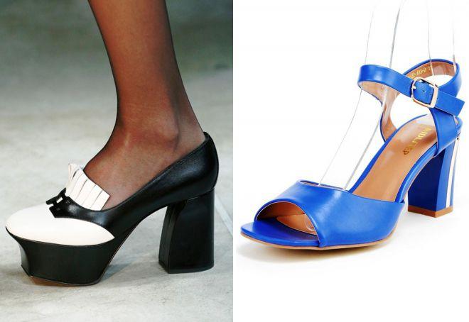 какие туфли в моде 2018