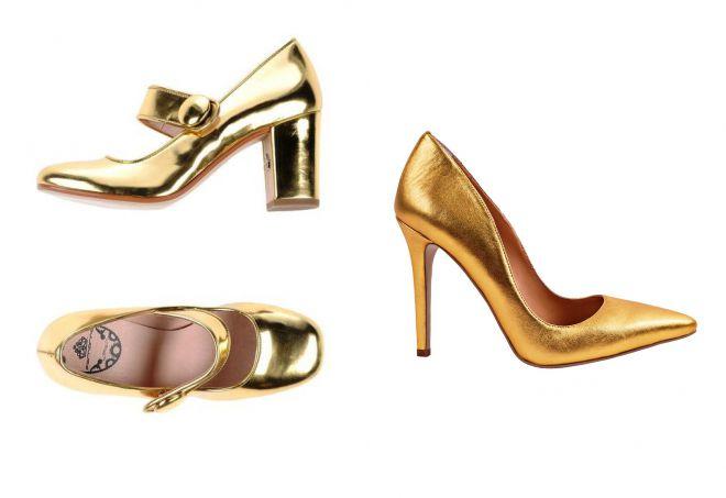 золотые туфли 2018