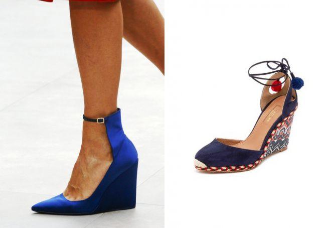 Bir kama üzerinde konforlu ve güzel ayakkabılar