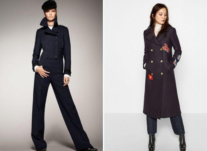 пальто zara в стиле милитари