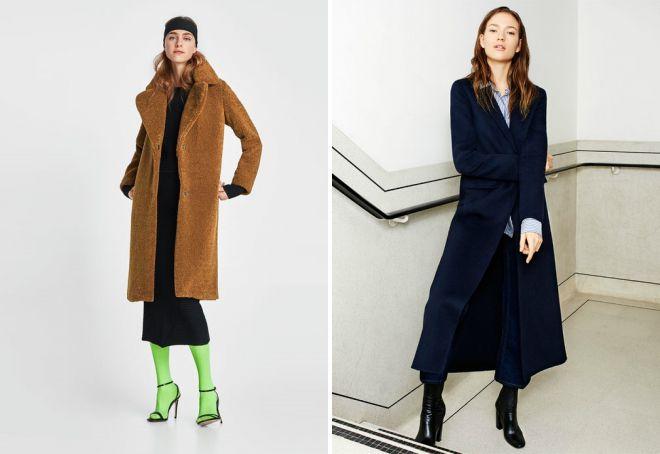 длинное пальто зара