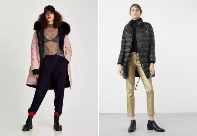 женское зимнее пальто зара
