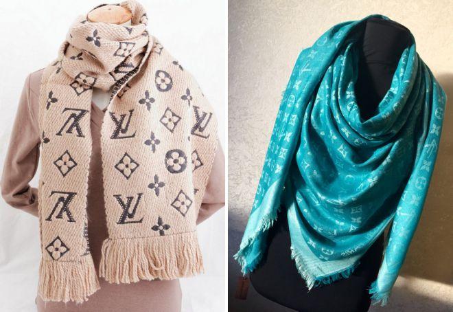 женские шарфы и шали louis vuitton
