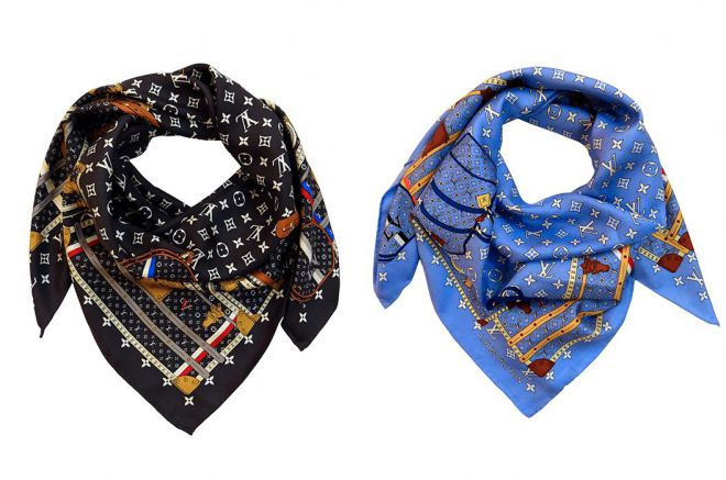 шелковый шарф луи виттон