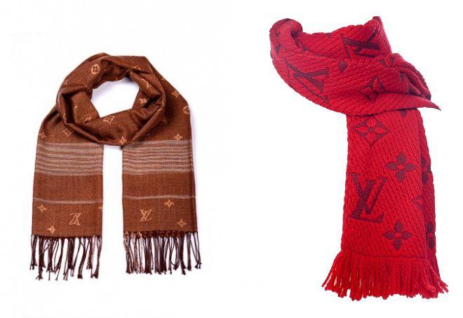 теплый шарф луи виттон