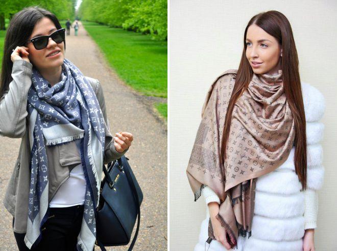 С чем носить женский шарф Луи Виттон – как носить теплый платок ... 285857a174f