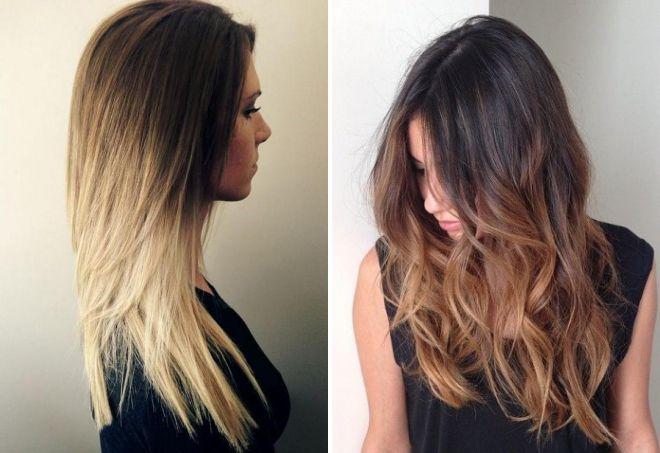 стрижки и окрашивание на длинные волосы 2018