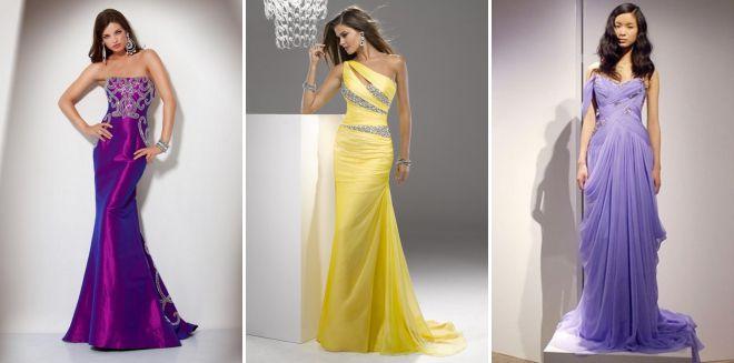 модные цвета вечерних платьев 2018