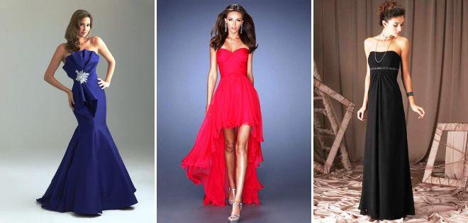 стильные вечерние платья 2018