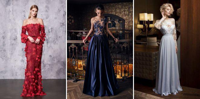 модные тенденции вечерних платьев 2018