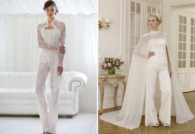 свадебное платье комбинезон