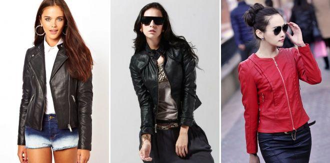 Модные кожаные куртки весна 2019